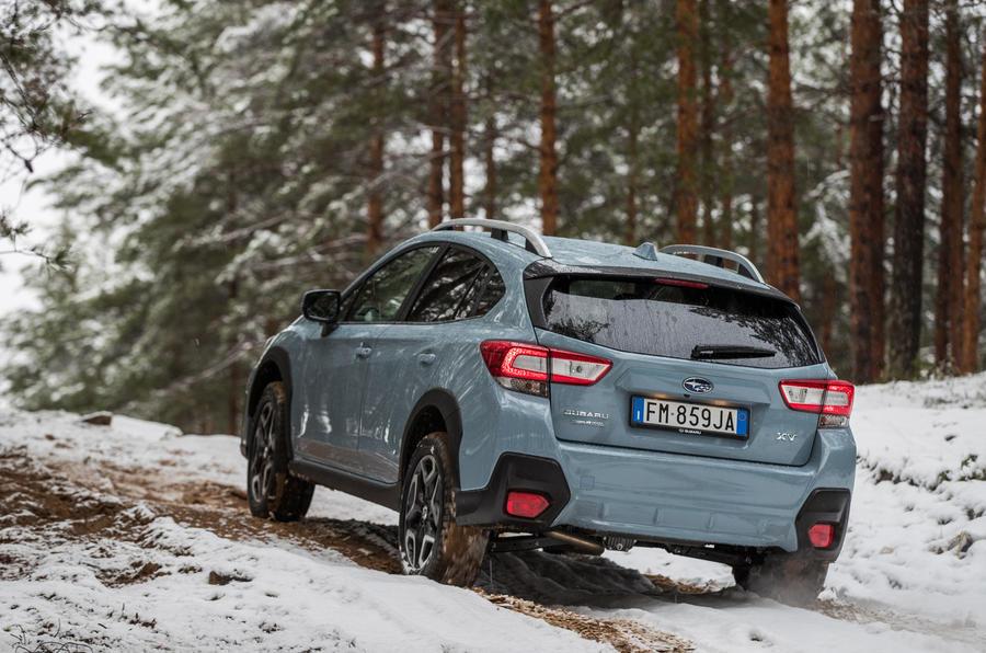 Subaru XV rear off-roading