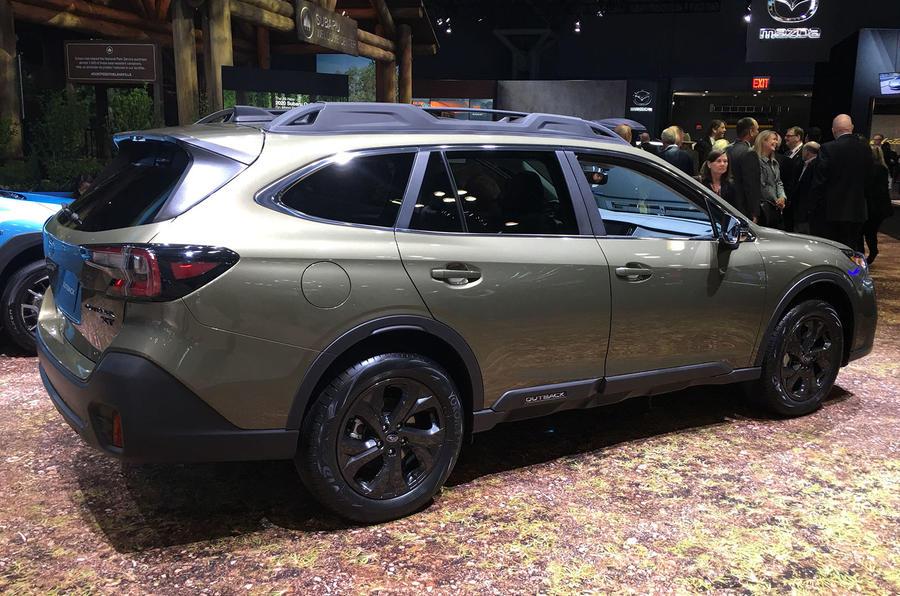 Subaru Outback 2019 New York Motor Show reveal - side