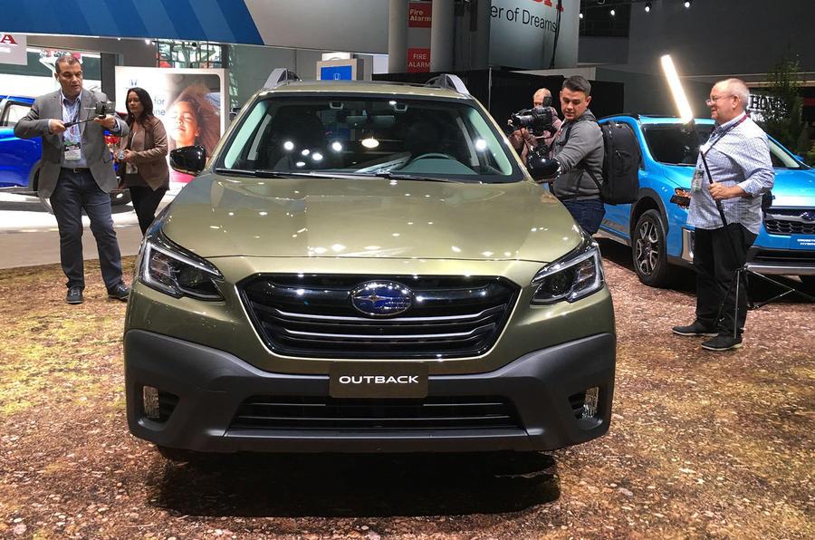 Subaru Outback 2019 New York Motor Show reveal - nose