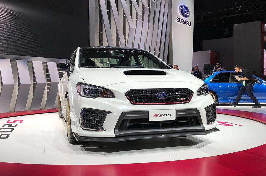 Subaru STI S209 Detroit motor show - nose