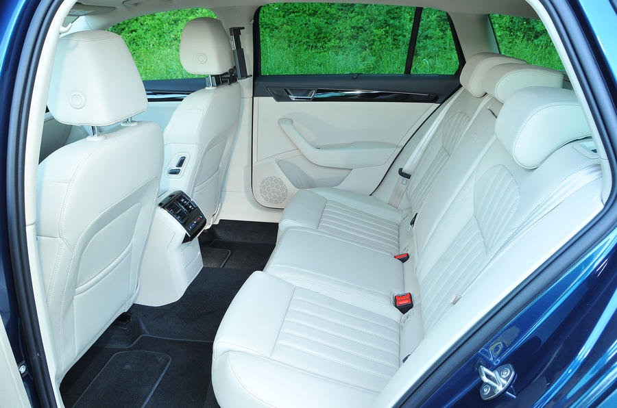Skoda Superb rear seats