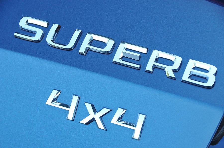Skoda Superb 4x4 badges