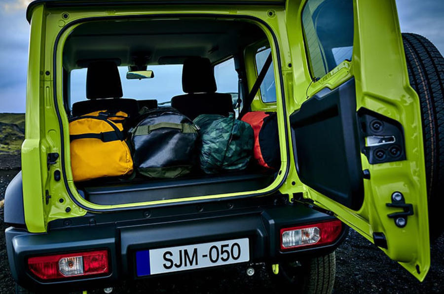 Suzuki Jimny 2019 official reveal photos rear storage