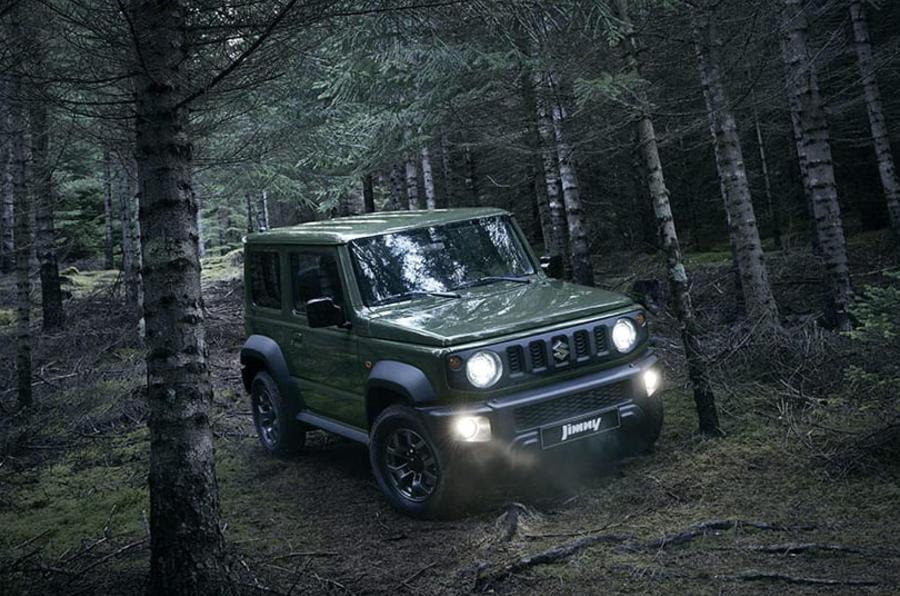 Suzuki Jimny 2019 official reveal photos woods