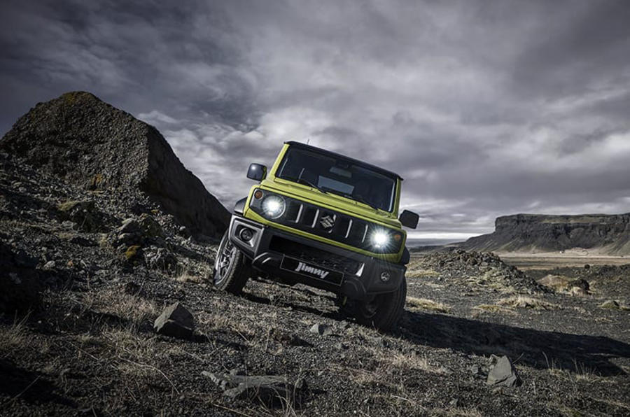 2019 suzuki jimny makes appearance at paris motor show autocar. Black Bedroom Furniture Sets. Home Design Ideas