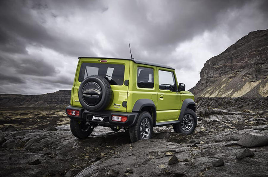 Suzuki Jimny 2019 official reveal photos rear