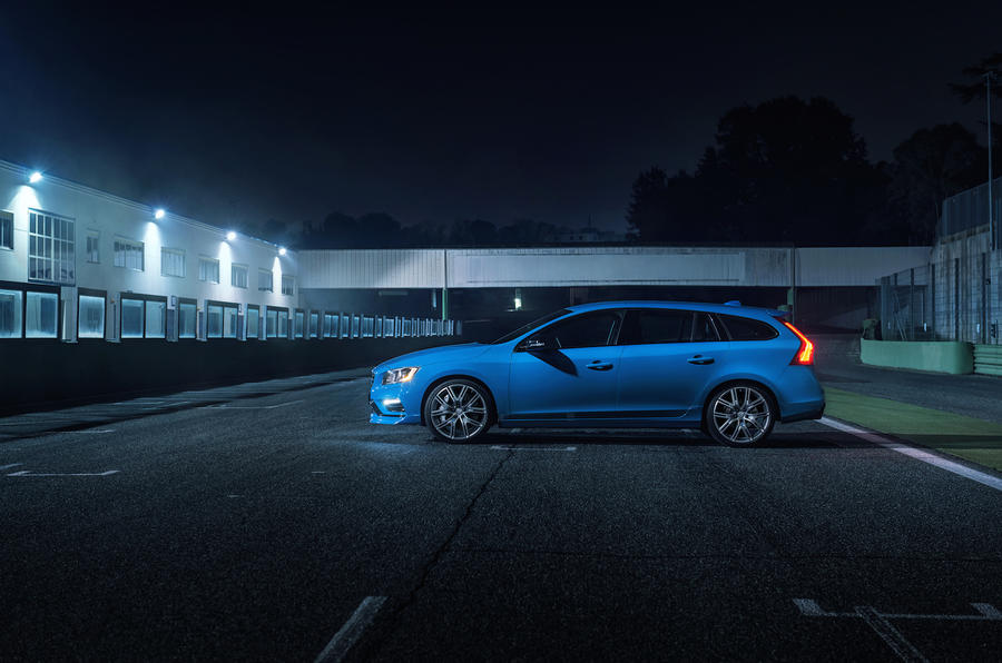 Volvo V60 Polestar side profile