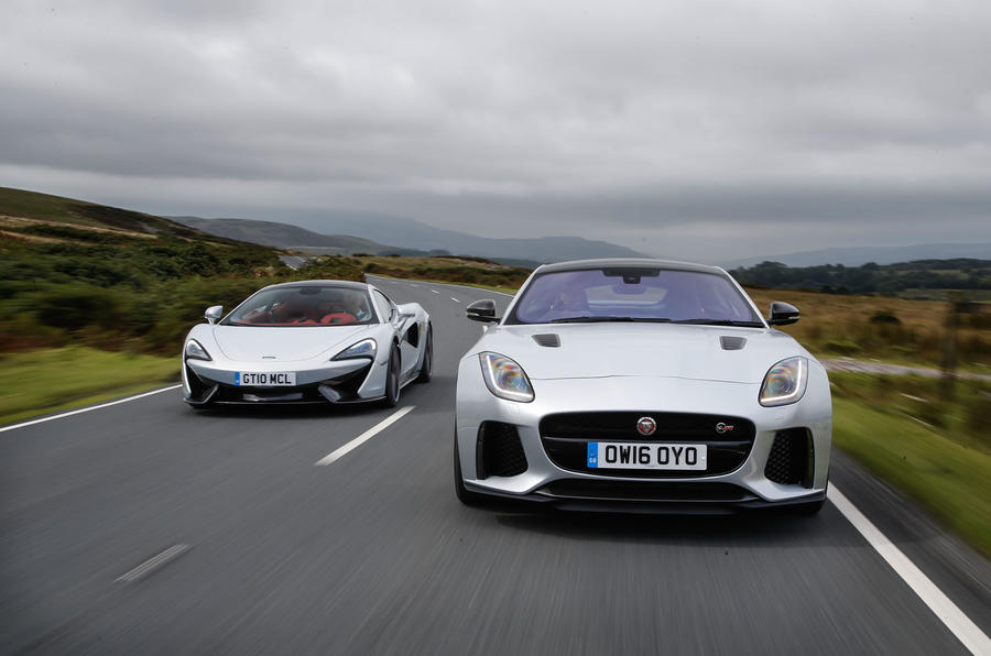 ... Jaguar F Type SVR Vs McLaren 570GT ...