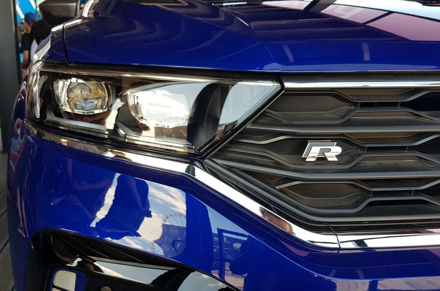 T-Roc R grille at Goodwood