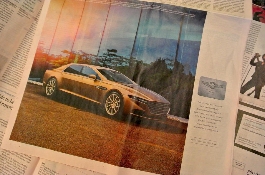 Aston Martin's Lagonda Taraf luxury limo in the FT