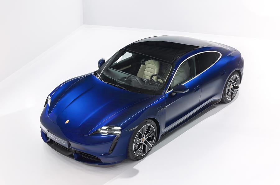 2020 Porsche Taycan Turbo S - studio front