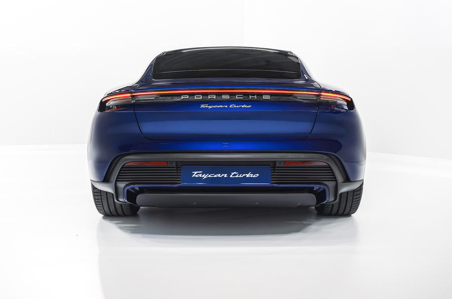 2020 Porsche Taycan Turbo S - studio rear