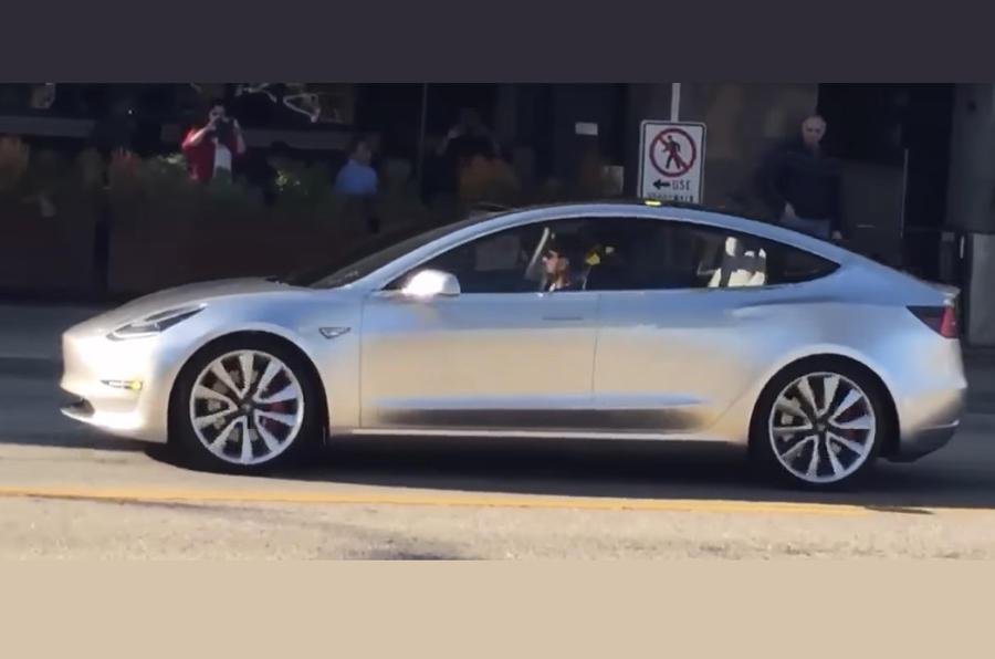 Tesla Model 3 in wild