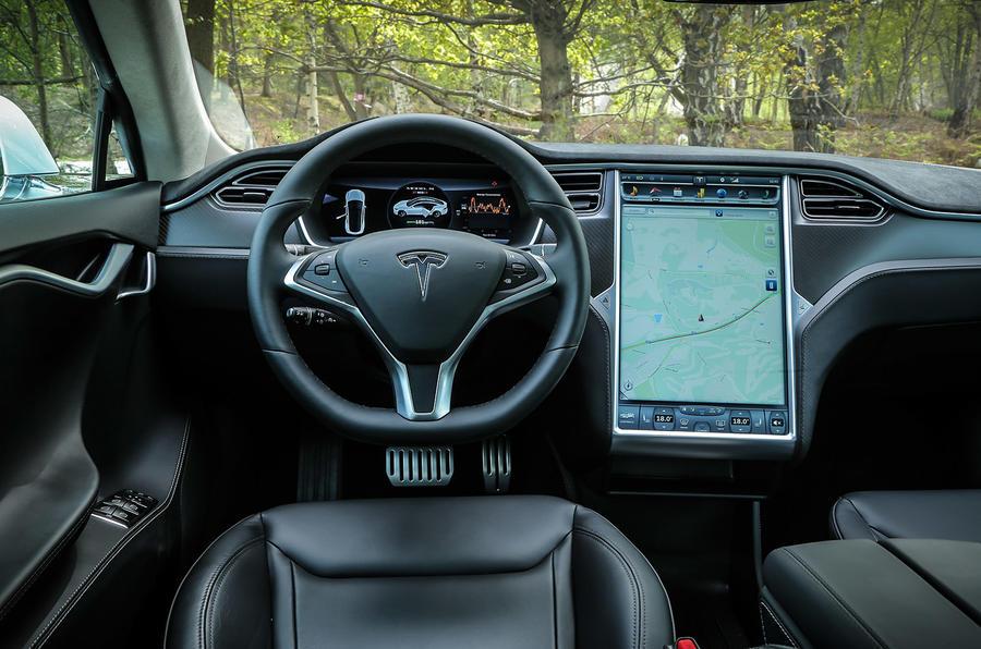 Tesla Model S P85D driver's seat