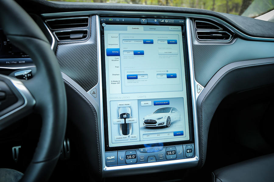 Tesla Model S car configuration options