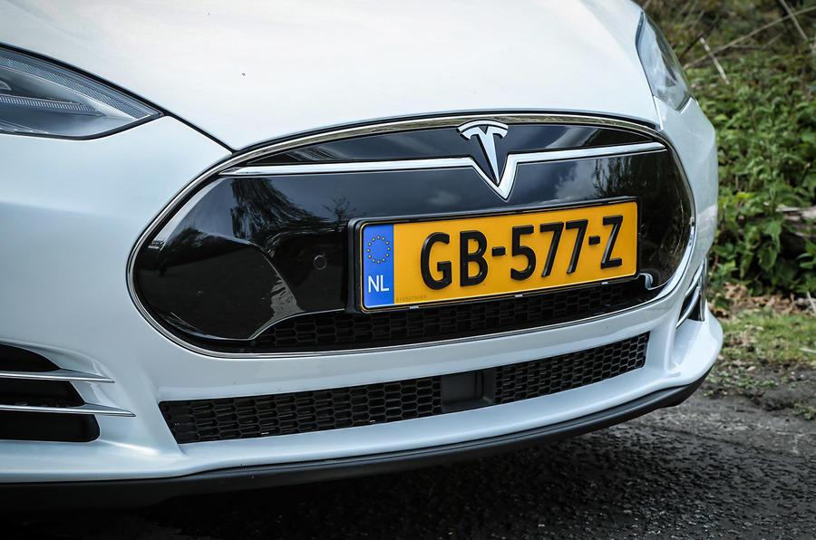 Tesla Model S P85D front grille