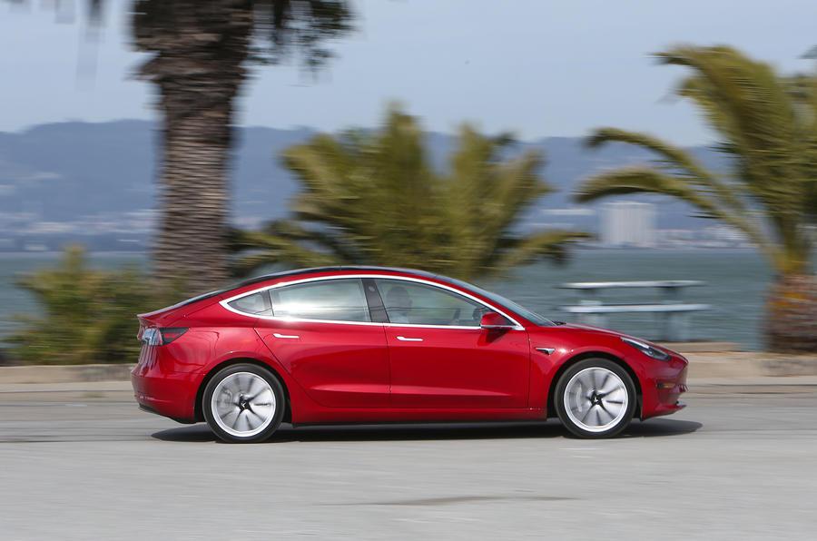 Tesla Model 3 side view