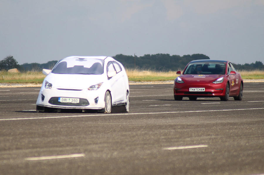 Thatcham ADAS testing Tesla braking
