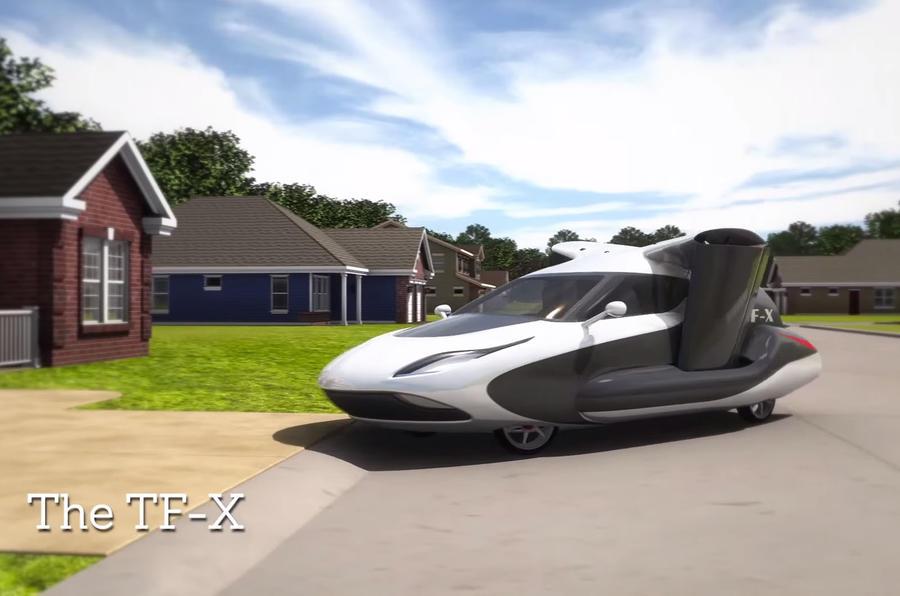 new terrafugia tf x flying car revealed autocar