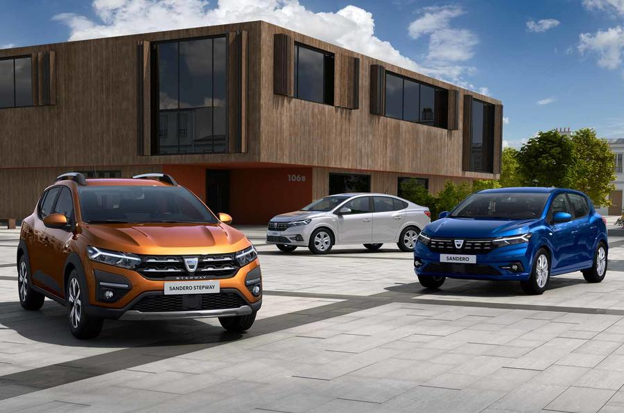 Dacia Sandero, Sandero Stepway and Logan