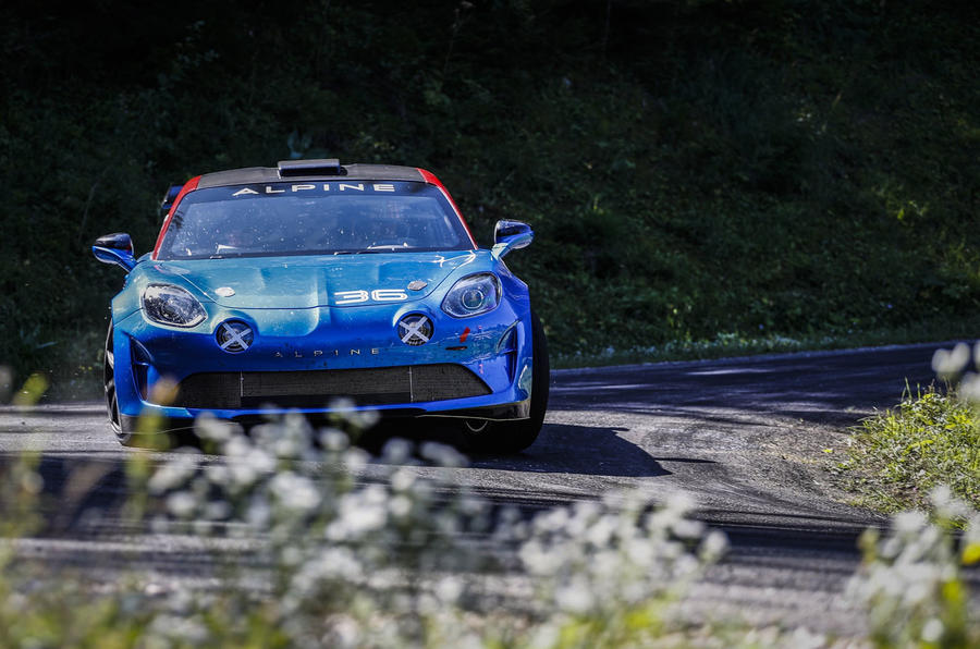 2020 Alpine A110 Rally - cornering front