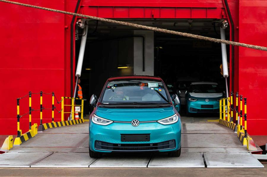 Volkswagen ID 3 lands at UK port