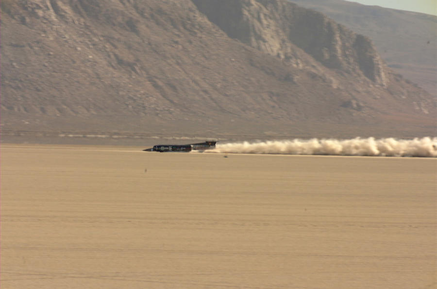 Thrust SSC on its way to breaking the sound barrier in 1997