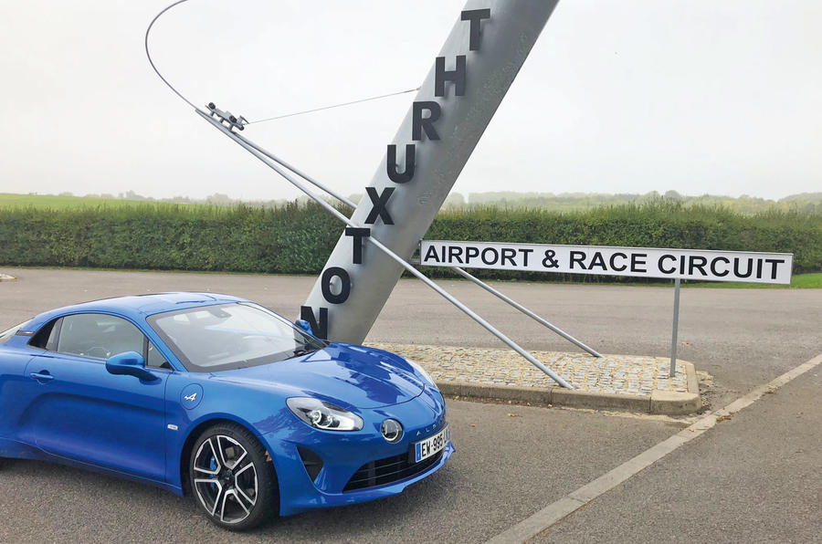 Alpine A110 at Thruxton Circuit