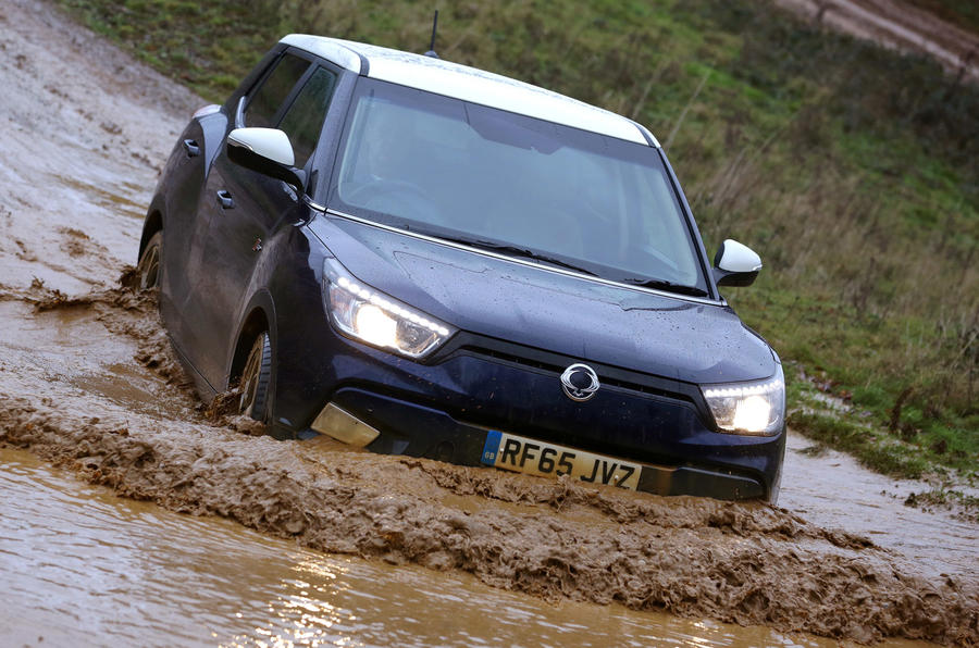 The new Tivoli 4x4 can cope with tough conditions