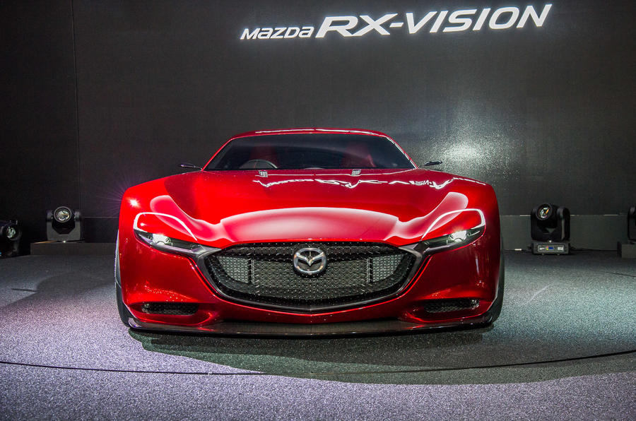 Mazda rx vision rotary engined sports car concept revealed for Modern motors used cars