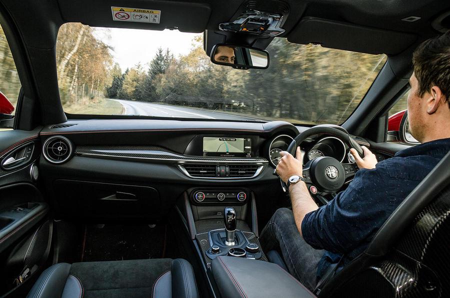Alfa Romeo Stelvio Quadrifoglio 2018 UK RHD first drive - Tom Morgan driving