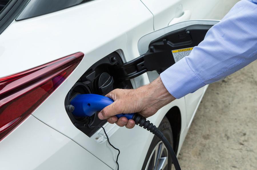 Toyota Prius PHEV charging