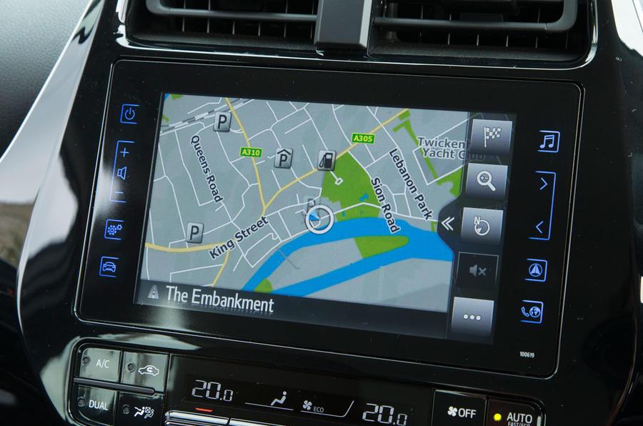 Toyota Prius PHEV infotainment system