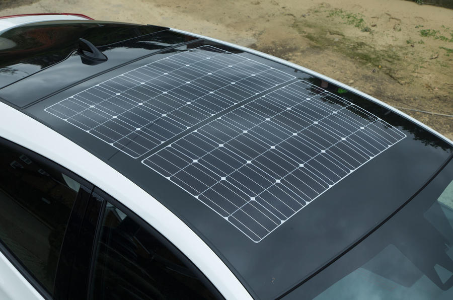 Toyota Prius PHEV solar panels