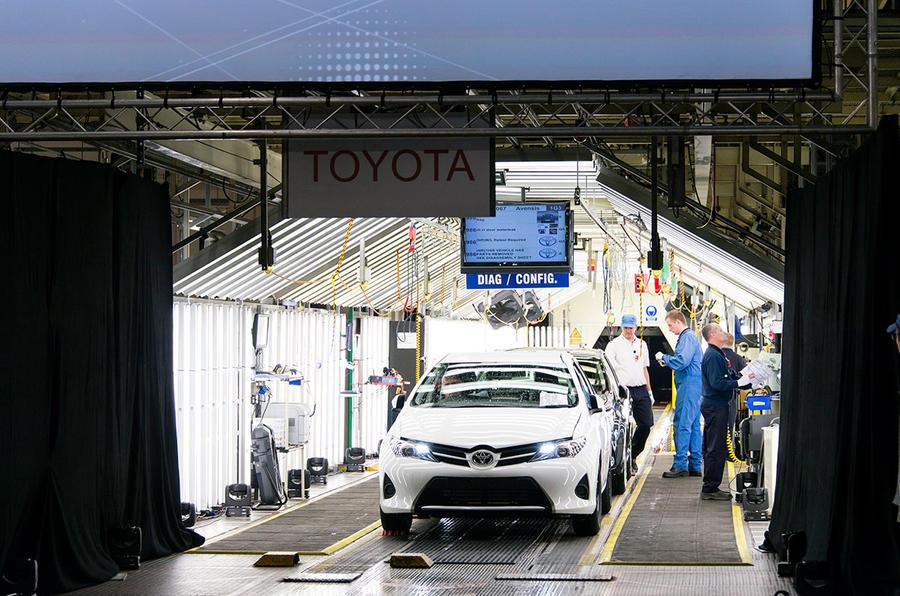 Toyota Auris at Burnaston