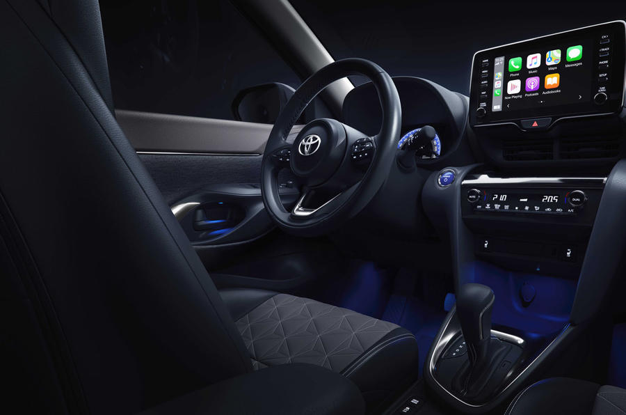 2020 Toyota Yaris Cross official image - steering wheel