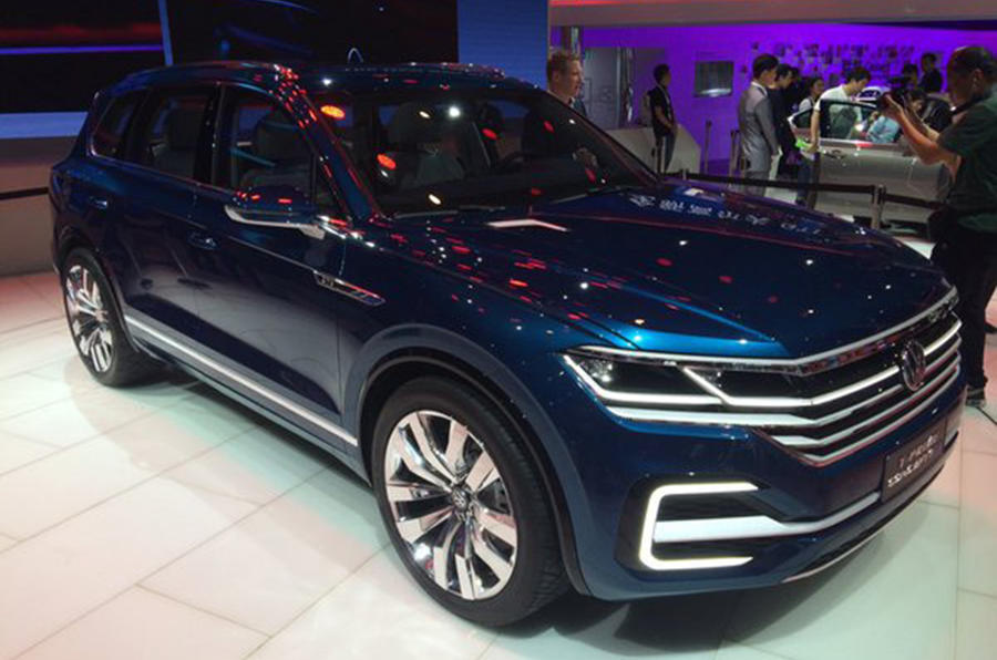 volkswagen t prime concept gte reveals next touareg at beijing motor show autocar. Black Bedroom Furniture Sets. Home Design Ideas