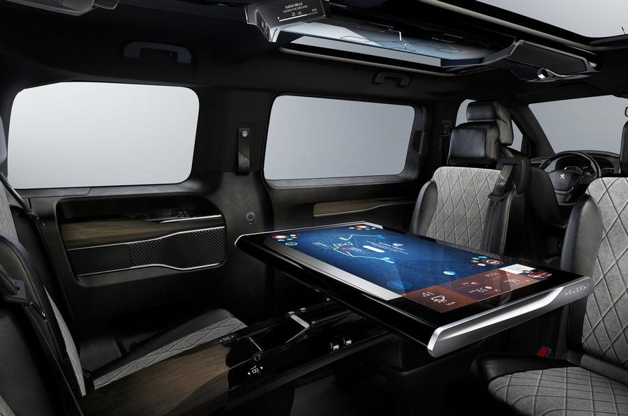 peugeot traveller i lab gets geneva motor show debut autocar. Black Bedroom Furniture Sets. Home Design Ideas