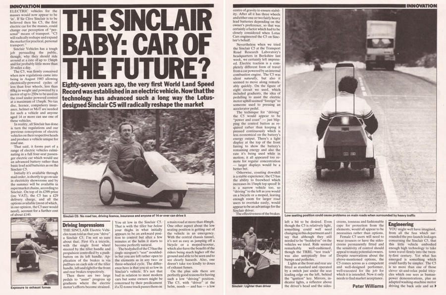 The Launch Of The Sinclair C5 16 January 1985 Throwback