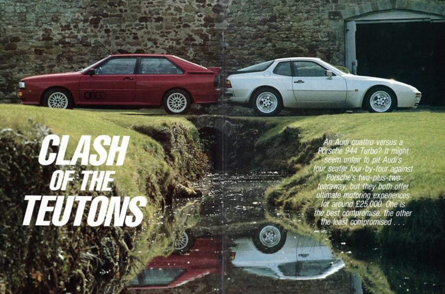 Audi Quattro vs Porsche 944 Turbo, 5 April 1986 , Throwback