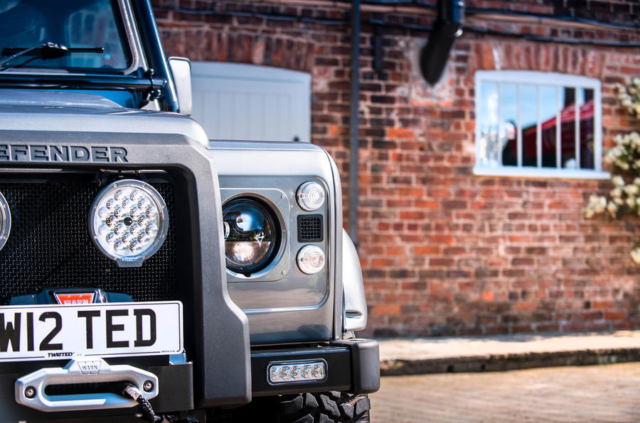 Twisted Defender V8 2018 UK first drive review - headlights