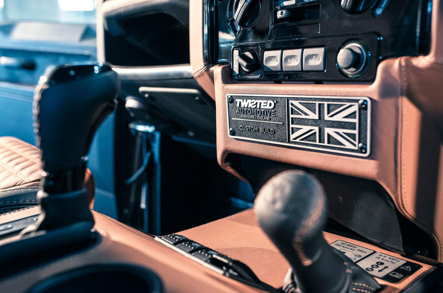 Twisted Defender V8 2018 UK first drive review - plaque