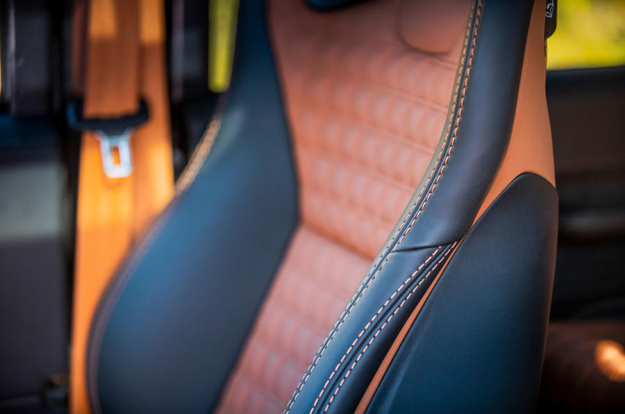 Twisted Defender V8 2018 UK first drive review - seat detail