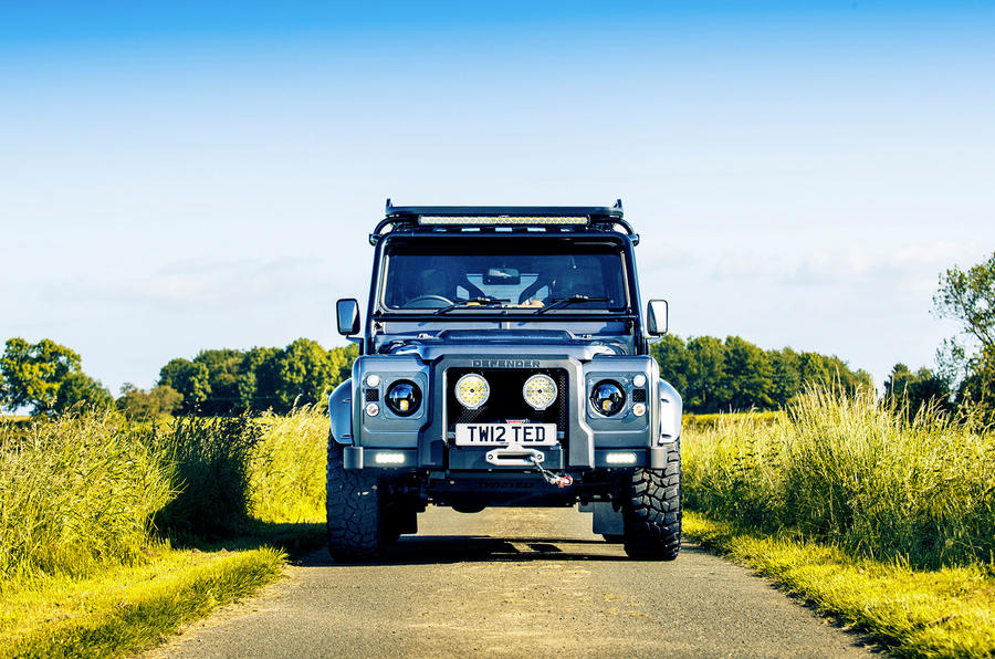 Twisted Defender V8 2018 UK first drive review - nose