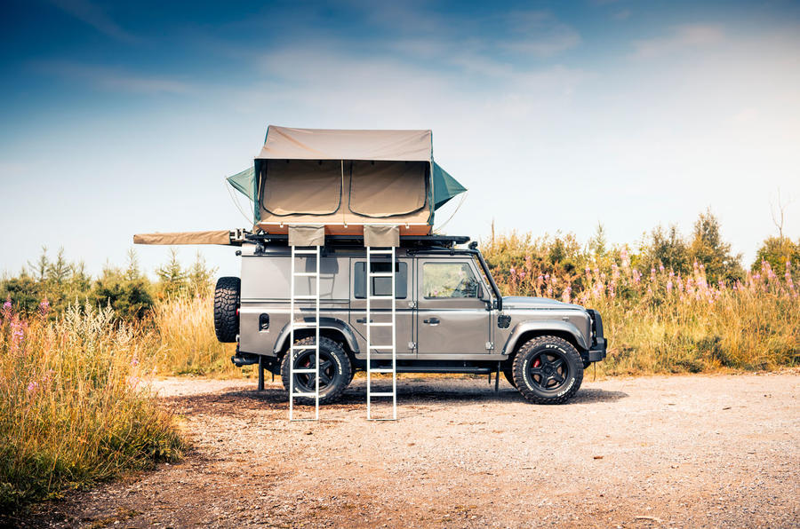 Twisted Defender V8 2018 UK first drive review - tent