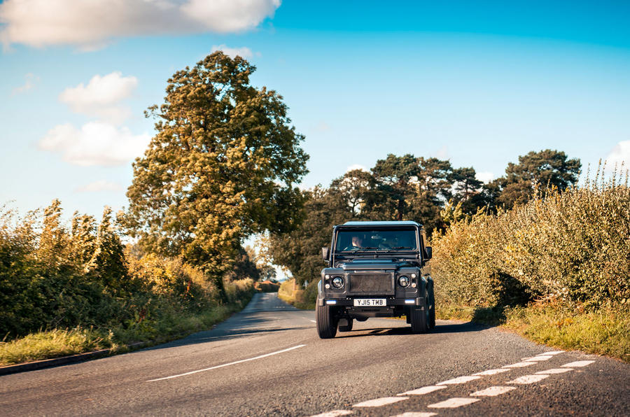 Twisted Defender V8 2018 UK first drive review - cornering