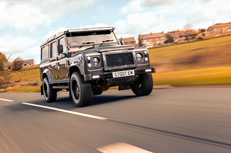Twisted Defender V8 2018 UK first drive review - otr front
