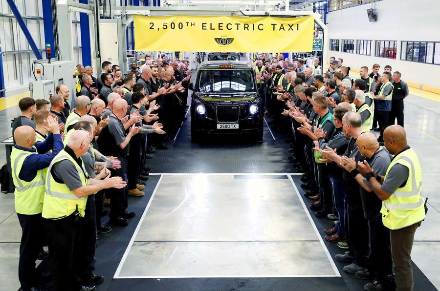 LEVC's 2500th TX hybrid taxi