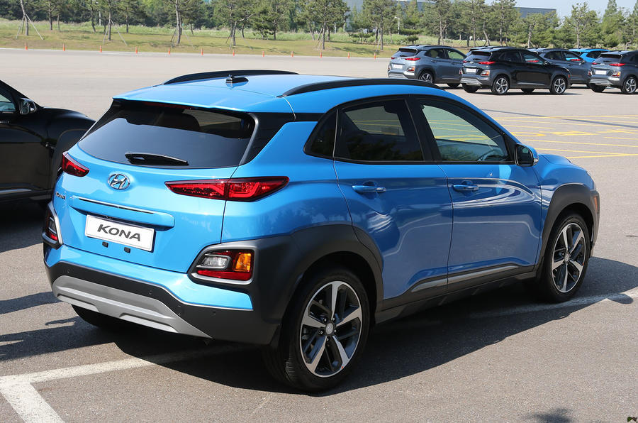 Hyundai Kona rear quarter