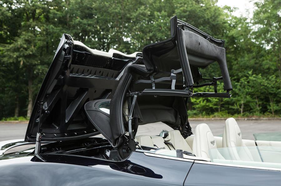 Aston Martin Vanquish S Volante roof opening